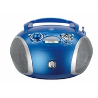 Sans K7 - Tuner FM digital PLL - Compatible CD-R/MP3 - Ultra Bass system - 2x 1 W - Bleu