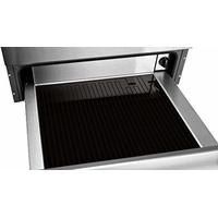 Tiroir chauffant - 12 assiettes - Jusqu'à 25 kg - De 30° à 80°C  - Ouverture Push Pull - Verre noir + inox