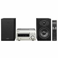 Micro-Chaîne Hi-Fi DAB avec Lecteur CD et Bluetooth - Argent/Noir