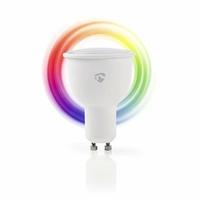 Nedis WIFILC10WTGU10 Ampoule LED Intelligente Wi-FI | Pleine Couleur et Blanc Chaud | GU10