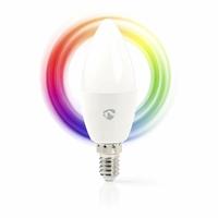 Nedis WIFILC10WTE14 Ampoule LED Intelligente Wi-FI | Pleine Couleur et Blanc Chaud | E14