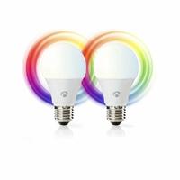 Nedis WIFILC20WTE27 Ampoules LED Intelligentes Wi-FI | Pleine Couleur et Blanc Chaud | E27 | Lot de 2