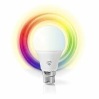 Nedis WIFILC10WTB22 Ampoule LED Intelligente Wi-FI | Pleine Couleur et Blanc Chaud | B22