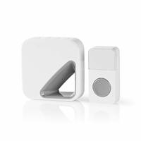 Nedis DOORB114WT Sonette sans Fils avec Batterie 85 DB Blanc/Gris