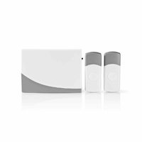 Nedis DOORB116WT2 Kit pour Sonnette sans Fil | Alimentation par Pile | 2 Émetteurs