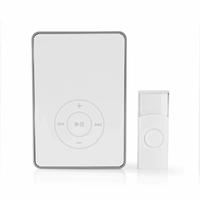 Nedis DOORB113WT Kit pour Sonnette sans Fil | Alimentation par Pile | Fonction MP3