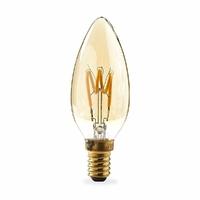Nedis LEDBTFE14CAN3P Lampe à Incandescence LED Rétro E14 | Bougie | 3 W | 100 LM