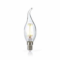 Nedis LEDBFE14CANFT2 Lampe à Incandescence LED Rétro E14, Bougie. Bout Recourbé, 4.8 W, 470 LM