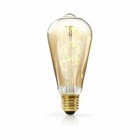 Nedis LEDBTFE27ST64 Lampe à Incandescence LED Vintage Réglable E27, ST64, 5 W, 260 LM