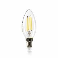 Nedis LEDBDFE14CAN02 Lampe à Incandescence LED rétro réglable E14, Bougie, 4.8 W, 470 LM