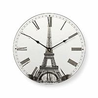 Nedis - CLWA007WD30ET - Horloge Rond - Diamètre 30 cm - Motif Tour Eiffel