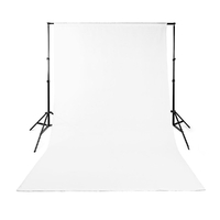 Nedis Toile de fond pour Studio Photo | 1,90 x 2,95 m | Blanc