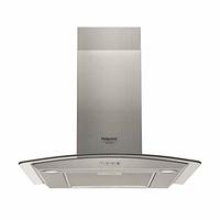 432 m3 - 3 vit. - Filtre métal + charbon - Eclairage LED - L 60 cm - Inox et verre galbé