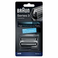 Braun 32B Pièce de Rechange Noire pour Rasoir Compatible avec les Rasoirs Series 3