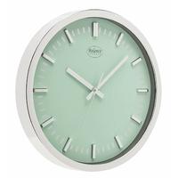 Horloge murale 30 cm Analogiques Argent/Vert