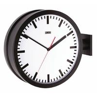 Balance 176224 – Horloge de Mur (Noir, Blanc, Verre, 38 cm, 180 x 430 x 500 mm, 3,7 kg)
