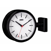 Horloge de gare double 20 cm Noir