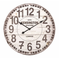 Balance 306328 Mechanical Wall Clock – Circle Brown, White Wall Clock Wall Clocks (AA, Brown, White, 600 mm, 600 mm, 60 cm, 50 x 615 x 620 mm)