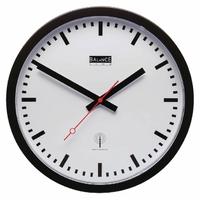 Horloge murale Radio-contrôlée 30 cm Analogiques Blanc/Noir