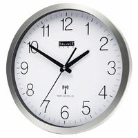 Horloge murale Radio-contrôlée 30 cm Analogiques Argent/Blanc