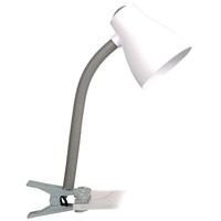 Lampe de table Smartwares 6000.631 Manou – Raccord ES/E27 – Raccord flexible – Gris et blanc