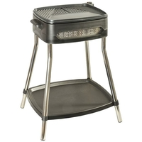 Barbecue sur pieds-2000 W-Thermostat 5 positions- 41 x 36 cm-Noir inox