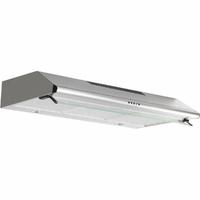 350 m3 - 3 vitesses - Filtres métal + charbon - Eclairage LED - Visière - L 80 cm - Inox