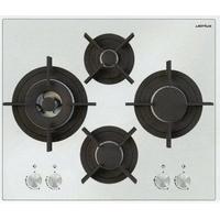 Airlux AV685HWH plaque - plaques (Intégré, Gaz, Verre, Blanc, Rotatif, Devant)