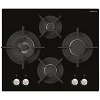 Airlux AV685HBK plaque - plaques (Intégré, Gaz, Verre, Noir, Rotatif, Devant)