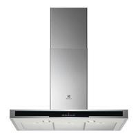685 m3-4 vitesses-Aff.-Filtre métal + charbon-LED-Déco Box-L 90 cm-Inox + verre noir