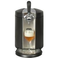 Machine à bière - Système bière pression avec fût 5 l - Température réglable-Inox noir