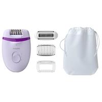 Epilateur Satinelle Essential - Secteur - Tête rasage et sabot - Lumière - Violet