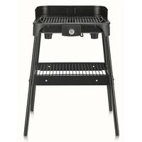 Barbecue sur pied PG8548 -2500 W -Grille inox 2 hauteurs-Thermostat-Noir