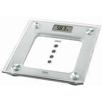 Electronique-Portée 160 kg-4 mémoires-Affichage LCD 27 mm-Plateau verre-Argent