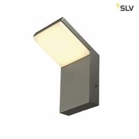 SLV Applique extérieure Ordi Applique murale LED SMD, 120 °, 3000 K, IP44, capteur sans, anthracite 232905 [Classe énergétique A]