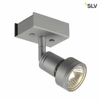 SLV Spot, Aluminium, Silber, GU10 1W 230V [Classe énergétique A+]