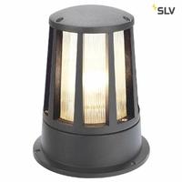 SLV 230435 Cône Luminaire d'extérieur, Anthracite, E27, Max. 100 W, IP54, Aluminium, Pierre Gris,