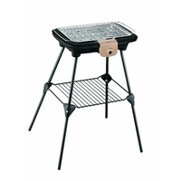 Barbecue sur pieds Easy Grill Power-2300 W-Grille 37 x 23,5 cm-Noir