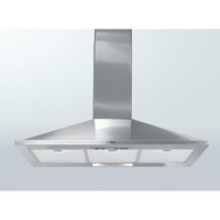 525 m3 - 3 vitesses - Cdes boutons - Filtres métal + charbon - L 90 cm - Eclairage  LED - Pyramidale - Inox