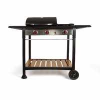 LIVOO DOC208 Barbecue Gaz Gril et Plancha