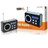 Radio portable noire BXL-TR250BL