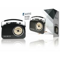 Radio rétro Konig HAV-TR710BL