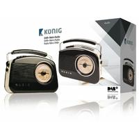 Radio rétro avec diffusion audio numérique Konig HAV-TR900BL