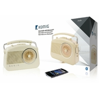 Radio rétro Bluetooth Konig HAV-TR800BE