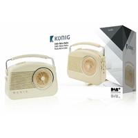 Radio rétro avec diffusion audio numérique Konig HAV-TR900BE