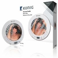 Radio de douche avec miroir Konig HAV-SR42