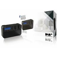 Radio rétro avec diffusion audio numérique Konig HAV-DABR100BL