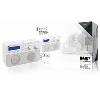 Radio rétro avec diffusion audio numérique Konig HAV-DABR100WH