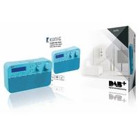 Radio rétro avec diffusion audio numérique Konig HAV-DABR100BU
