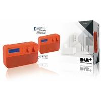 Radio rétro avec diffusion audio numérique Konig HAV-DABR100RE